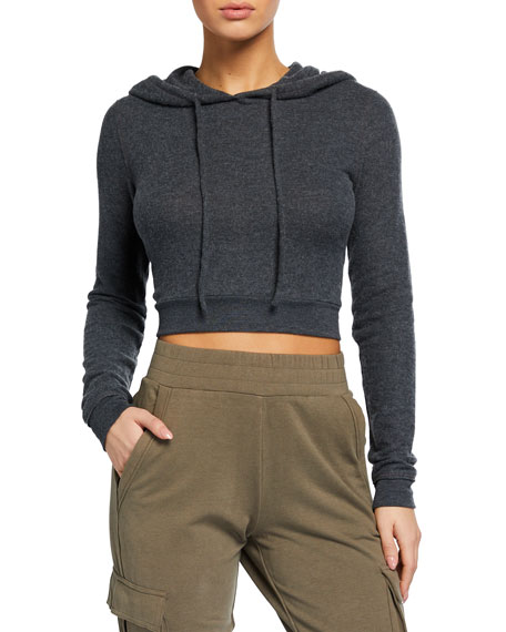 Image 1 of 2: Alo Yoga Getaway Cropped Hoodie Sweatshirt