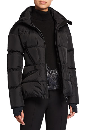 Moncler Grenoble Dixence Fitted Down Quilted Ski Jacket