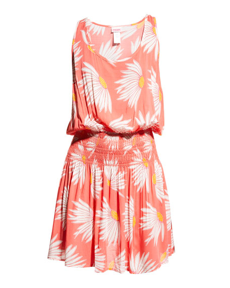 Image 2 of 3: kate spade new york daisy smocked coverup dress