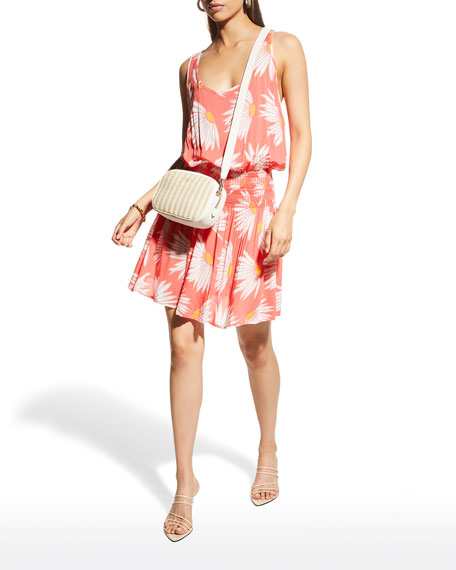 Image 3 of 3: kate spade new york daisy smocked coverup dress