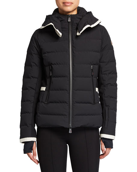 Image 2 of 3: Moncler Lamoura Contrast-Trim Technical Ski Jacket