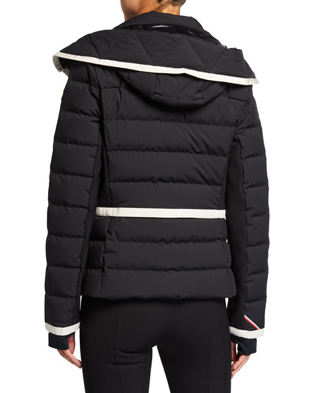 Image 3 of 3: Moncler Lamoura Contrast-Trim Technical Ski Jacket