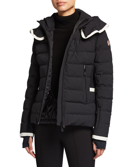 Image 1 of 3: Moncler Lamoura Contrast-Trim Technical Ski Jacket