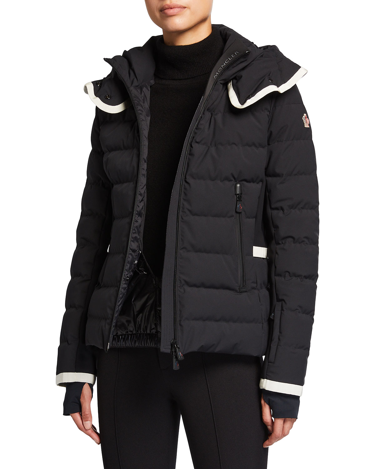 Moncler Lamoura Contrast-Trim Technical Ski Jacket