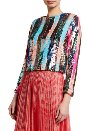 Loyd/Ford Multi-Pattern Sequin Sweater