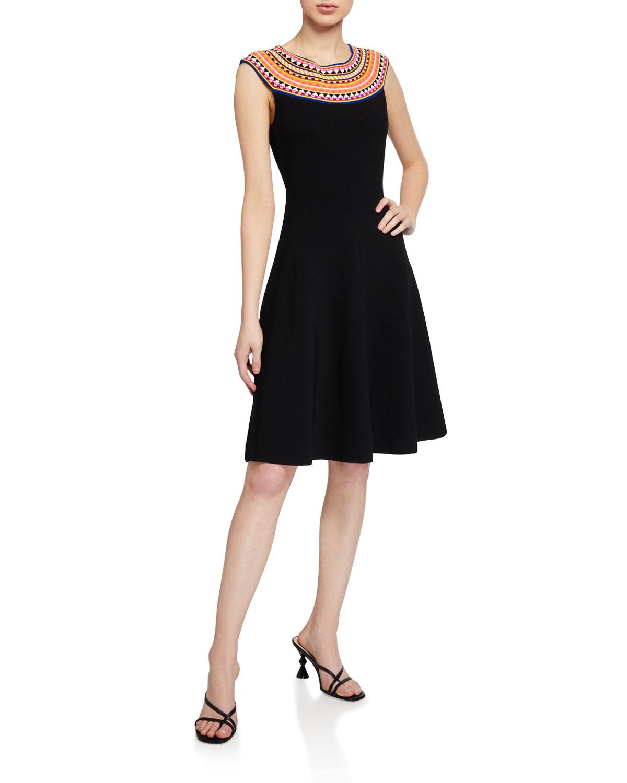 Milly Geo Ottoman Sleeveless Dress
