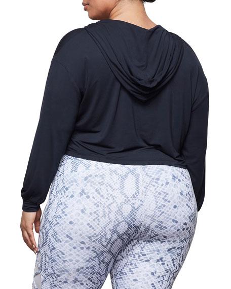 Good American Yogi Crop Pullover Hoodie - Inclusive Sizing