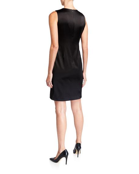 Elie Tahari Dorit Sleeveless Satin Dress