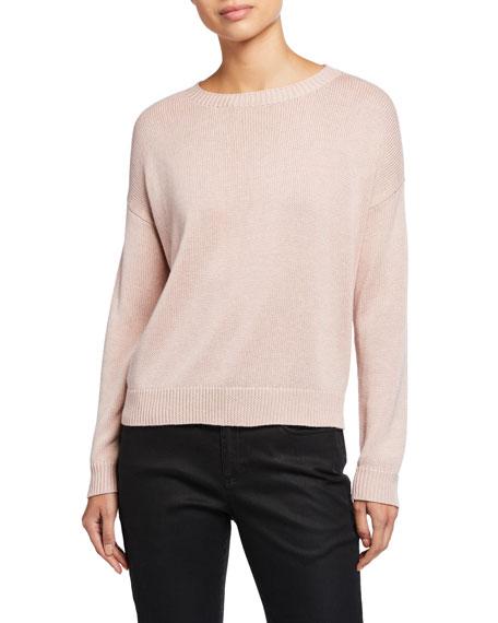 Eileen Fisher Round-Neck Lyocell/Organic Cotton/Silk Sweater