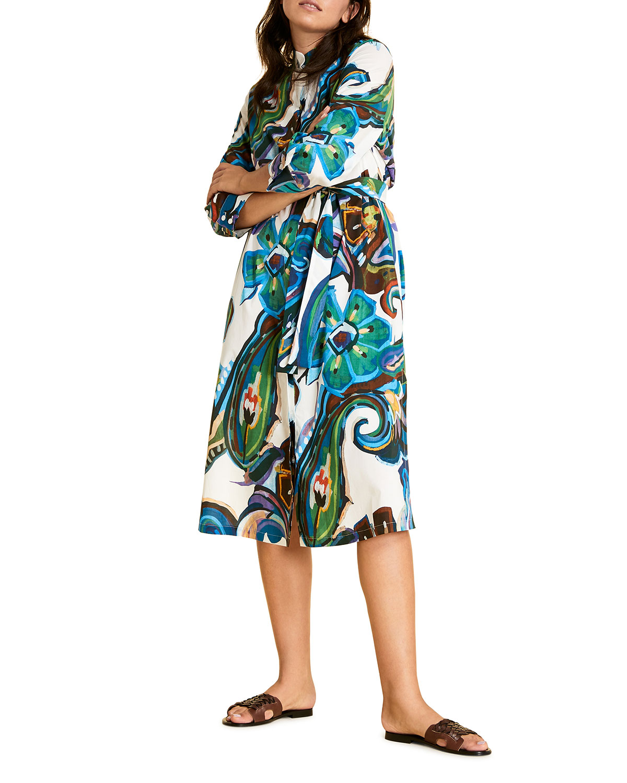 Marina Rinaldi Plus Size Denotato Printed Shirt Dress