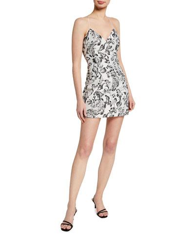 Tayla Structured Lantern Mini Dress