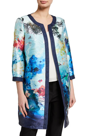 Berek Plus Size Floral Clouds Jacket