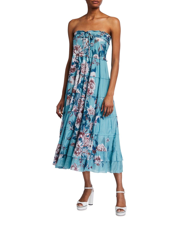 Diane von Furstenberg Julia Floral-Print Voile Midi Dress
