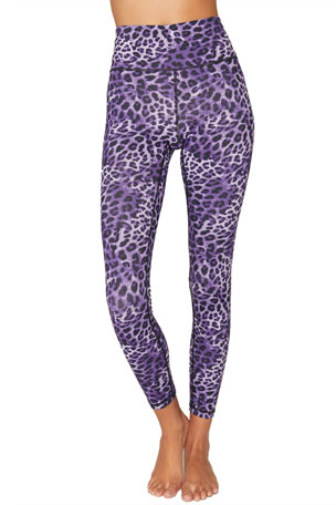 Spiritual Gangster Essential High-Waist Leggings - Lavender Cheetah