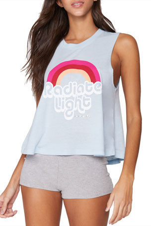 Spiritual Gangster Radiate Light Crop Tank