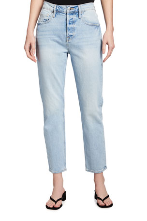 FRAME Heritage Original High-Rise Straight Jeans