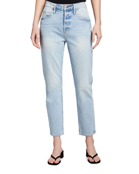 Image 1 of 3: FRAME Heritage Original High-Rise Straight Jeans