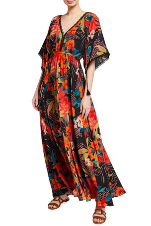 Johnny Was Kat Floral Print Maxi Dress