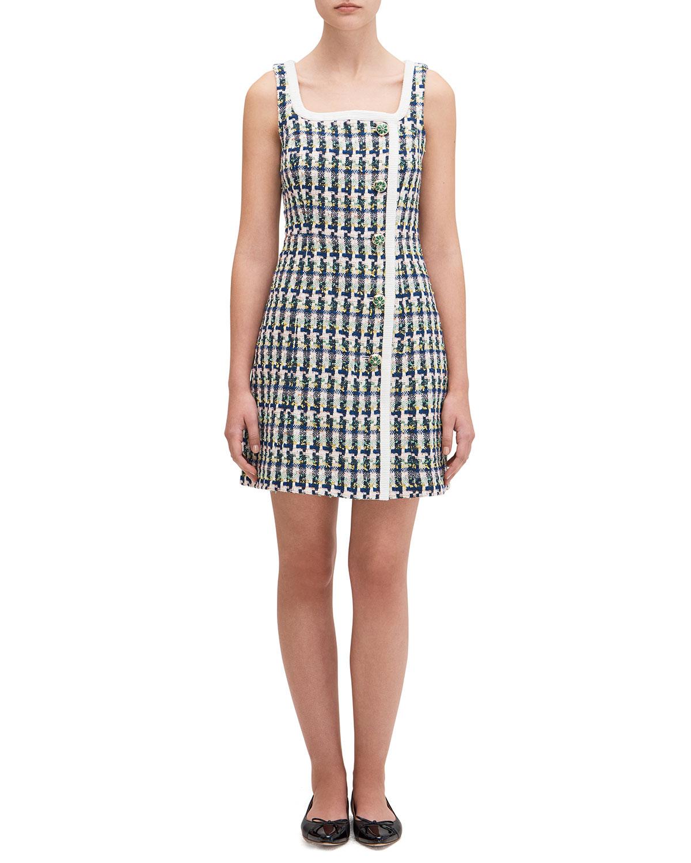 kate spade new york metallic tweed dress