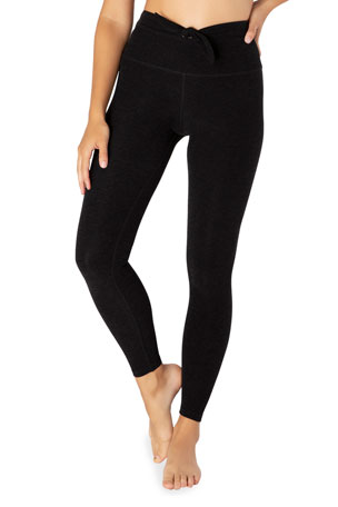 Beyond Yoga Knot A Problem High-Waist Midi Leggings