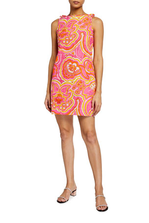 Trina Turk Encantader Sleeveless Shift Dress