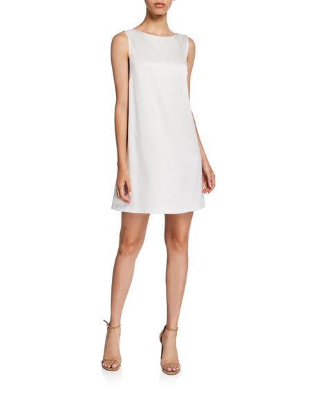 Image 1 of 2: Lita Sleeveless Cowl-Back Mini Shift Dress
