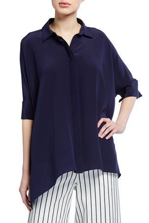 Trina Turk Barbados Oversized Collared Top