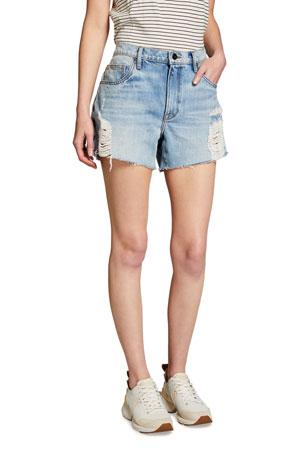 FRAME Le Ultra Baggy Denim Shorts