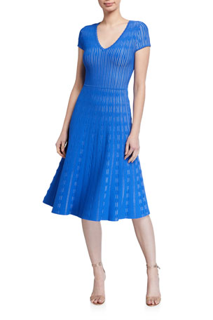 Shoshanna Anara Cap-Sleeve Dress
