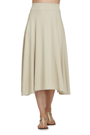 Joan Vass Plus Size Long Skirt