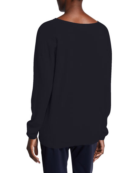 Image 2 of 2: Max Mara Leisure Wool-Blend V-Neck Sweater