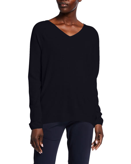 Image 1 of 2: Max Mara Leisure Wool-Blend V-Neck Sweater