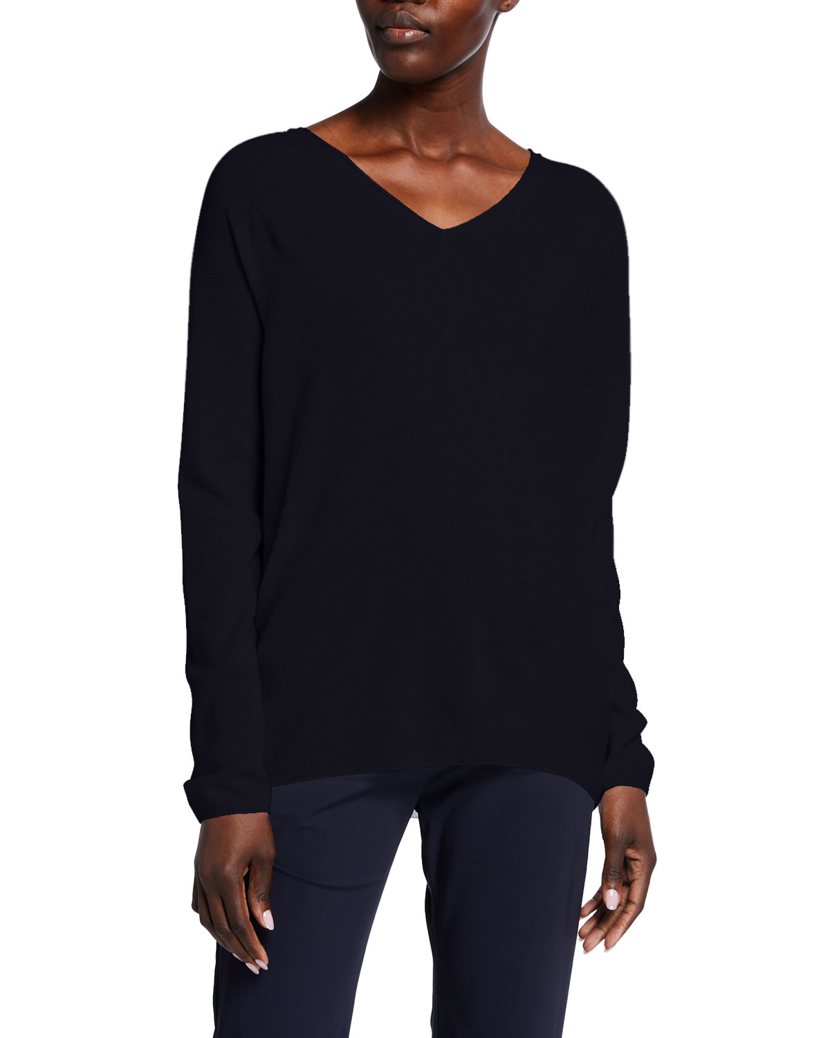 Max Mara Leisure Wool-Blend V-Neck Sweater