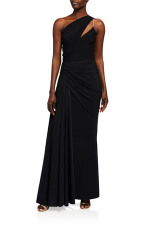 Chiara Boni La Petite Robe Kirin One-Shoulder Draped Gown