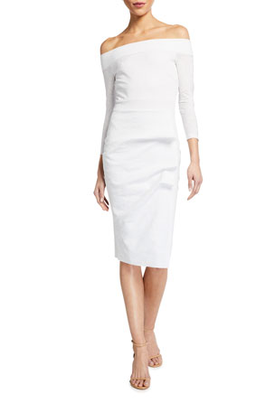 Chiara Boni La Petite Robe Larissa Off-the-Shoulder Sheath Dress