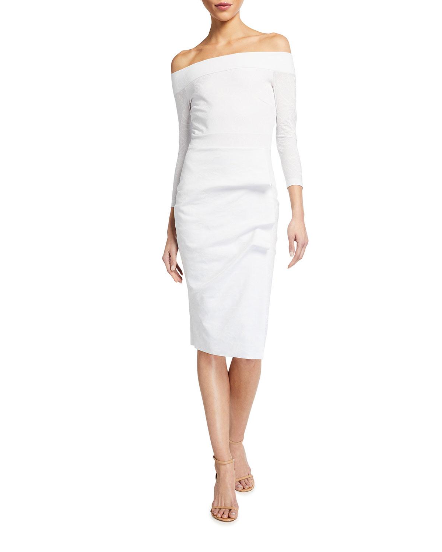 Chiara Boni La Petite Robe Larissa Off-the-Shoulder Sheath Dress