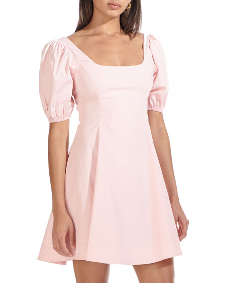 Image 1 of 3: Staud Laelia Puff Sleeve Dress