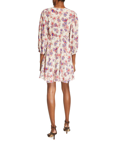 Image 2 of 2: Iro Gallery Floral V-Neck Short Dress