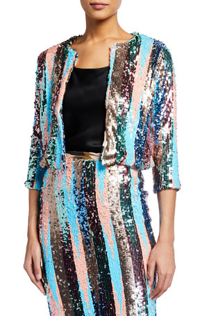 Loyd/Ford Multipattern Sequin Cardigan