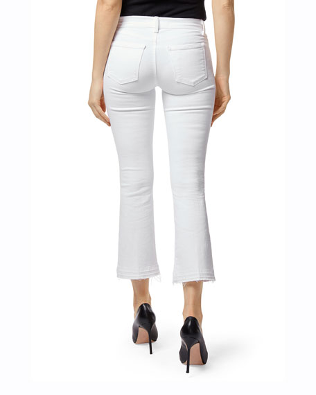J Brand Selena Mid-Rise Cropped Boot-Cut Jeans