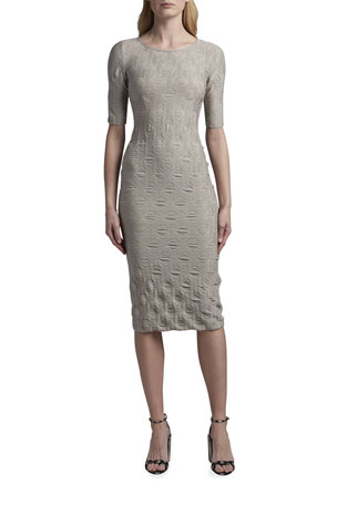 Giorgio Armani Geometric Jacquard Midi Dress