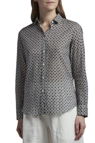 Giorgio Armani Foulard Printed Cotton Shirt