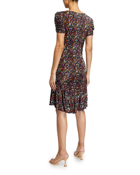Tanya Taylor Effie Printed Jersey Dress