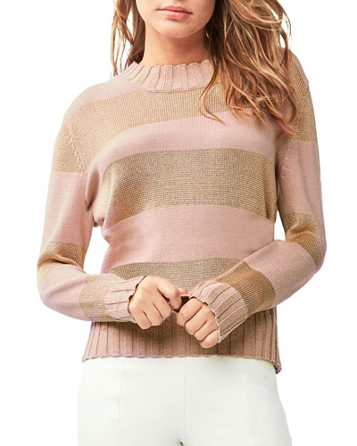 Lorana Striped Cotton Sweater