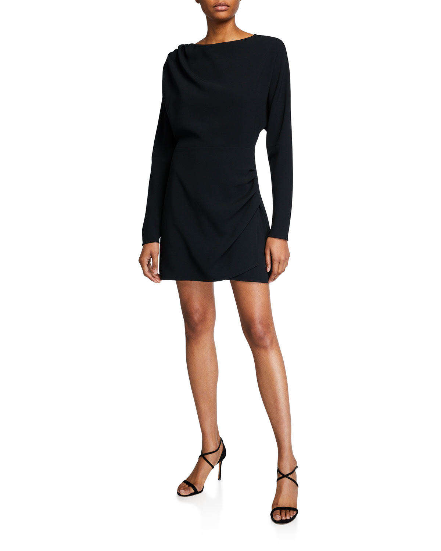 A.L.C. Greer High-Neck Long-Sleeve Mini Dress