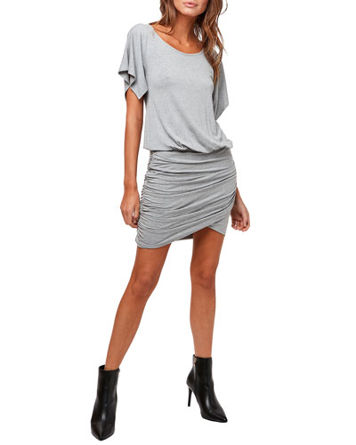 Double Take Ruched Jersey Dress