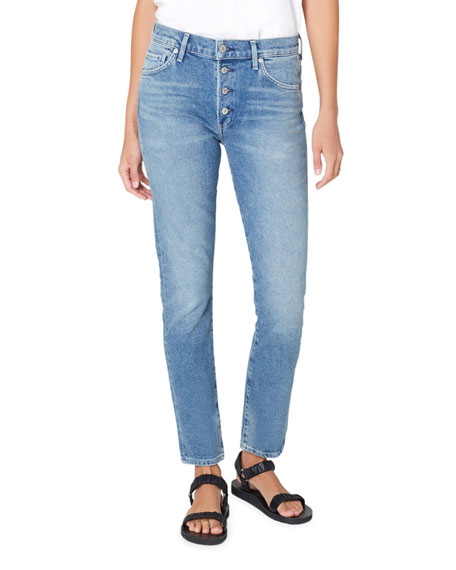 Image 1 of 3: Citizens of Humanity Skyla Mid Rise Cigarette Jeans