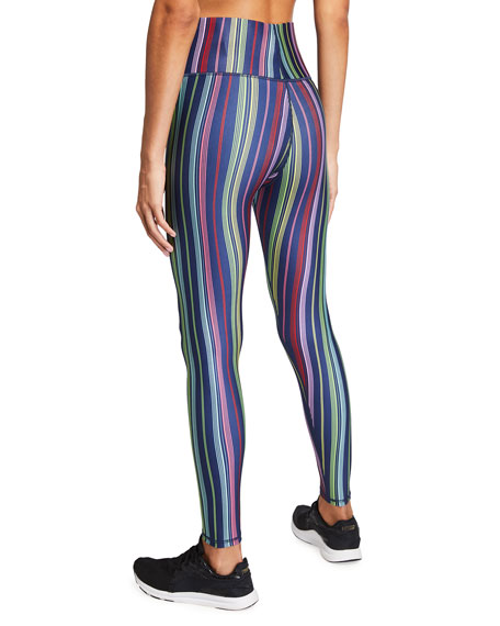 Image 2 of 3: Terez Super High-Rise Multi-Stripe Active Leggings