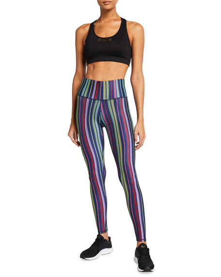 Image 3 of 3: Terez Super High-Rise Multi-Stripe Active Leggings