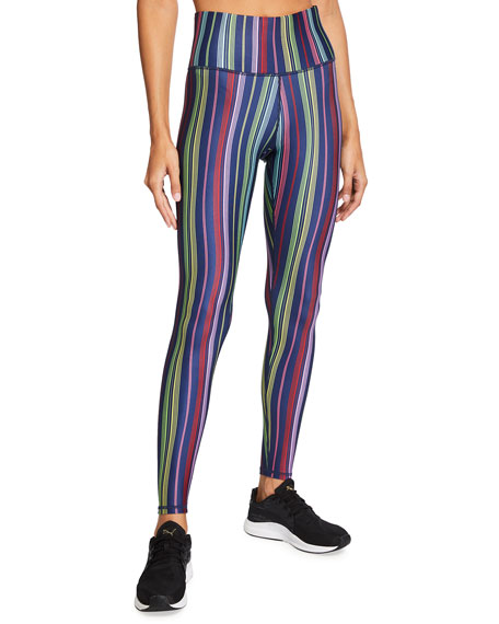 Image 1 of 3: Terez Super High-Rise Multi-Stripe Active Leggings